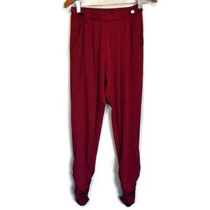 🍁 Another Story Burgundy Ruched Ankle Pants